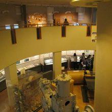 2階・3階の吹抜け展示