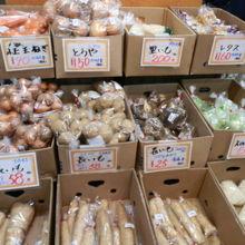 地元青森県産が誇る野菜を中心に安価に販売していました