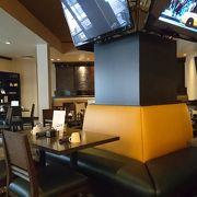 Hotel併設のrestaurant