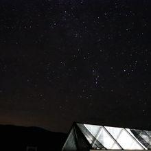 ホテル屋上からの星。