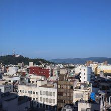 ホテルからの眺望。街中です。