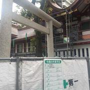 京急蒲田駅近くの神社