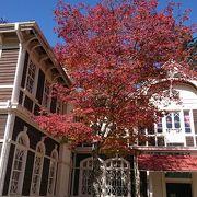 西洋式の木造ホテル