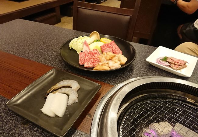 ホテル内の焼肉レストラン