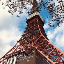 東京タワーの真下から