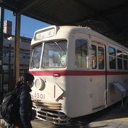 都電車両2両展示されています