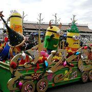 今年のパレードはミニオンがテーマ