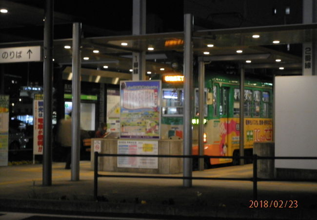 路面電車の停留所