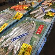 とれとれの新鮮な魚と和歌山のお土産が揃う