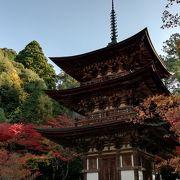 紅葉の西明寺・美しい本堂と三重塔