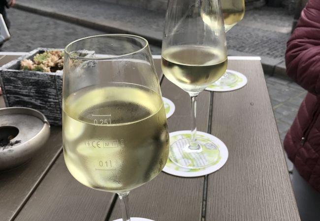フランケンワインを飲んだだけですが・・アルテマイン橋の上で。。