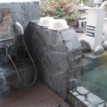 部屋の露天風呂洗い場
