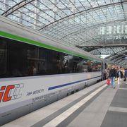 ポーランドのワルシャワから国際列車でドイツのベルリンに着きました。