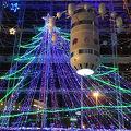 松江駅隣の公共施設 クリスマスイルミネーションがきれい