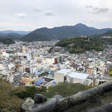 天守閣から見た宇和島市