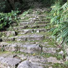 天守まで続く石段は現在するものなので歩きやすい靴が良いです。