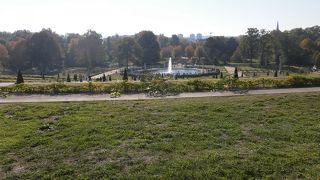 とても広い公園です。