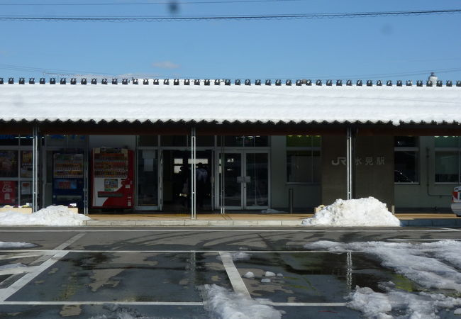 懐かしいイメージの駅