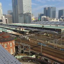 東京駅構内が見渡せる
