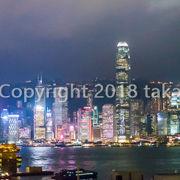 ビクトリアハーバーの風景は香港観光の目玉です。