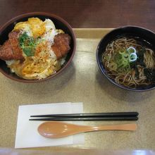 カツ丼+ミニわかめ蕎麦