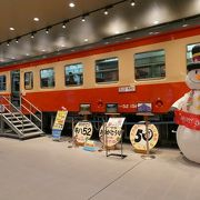 鉄道模型のジオラマとキハの展示