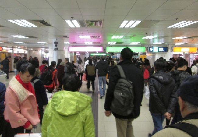 MTRで羅湖駅までは意外と早く移動