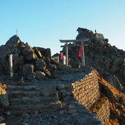 雄山神社が真の雄山の山頂