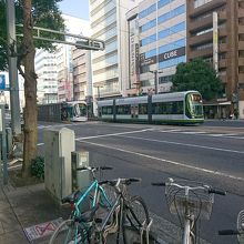 日本ではめずらしい連結タイプのLRT
