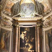 カラヴァッジョ作「巡礼者の聖母」