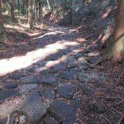 江戸時代からの石畳が