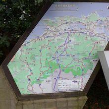 駐車場の松江市美保関周辺の案内地図