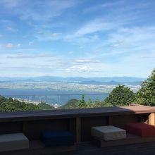 山床カフェからの景色