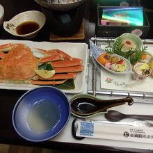 夕食の蟹会席