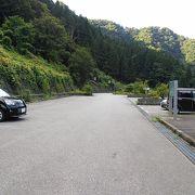 車中泊:宇奈月温泉 とちの湯前の駐車場(富山)★★+