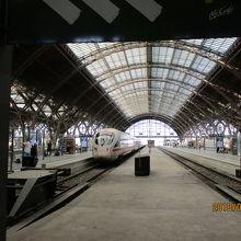 ライプチヒ中央駅ホーム