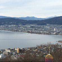 立石公園から眺めた諏訪湖