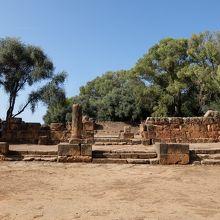 ジュピター神殿。かつて階段上にジュピター像があった