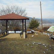 善光寺平が一望出来た公園でした。