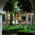 写真:リンダラハの中庭