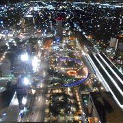 きれいな夜景の、駅前無料展望台