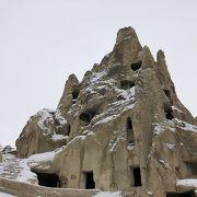 屋外博物館で洞窟教会、フレスコ壁画
