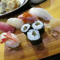 お寿司ランチとかき揚げ丼