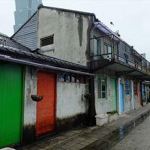 四四南村内のかつての住居。