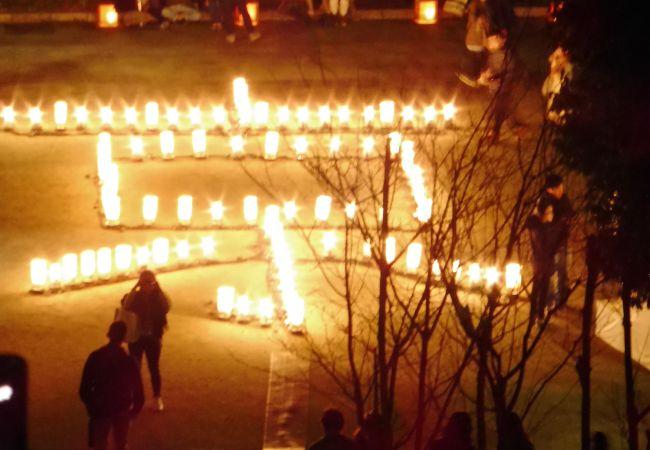 灯篭で「京」の文字が……
