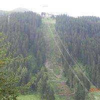 スキーゲレンデが遠めに見えます