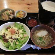 タコライスとゆし豆腐を食べました
