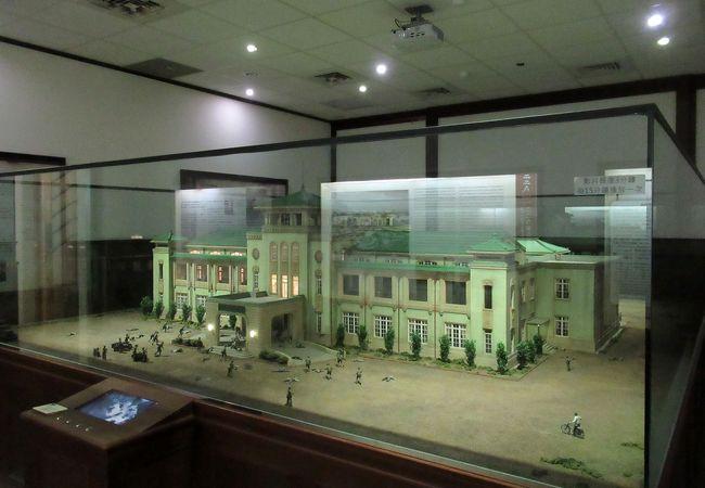 この建物を舞台にした二二八事件の精巧なジオラマがありました