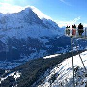 スキー以外にクリフウォークも楽しめました。
