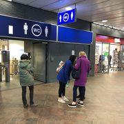 アントワープ中央駅でのトイレ事情